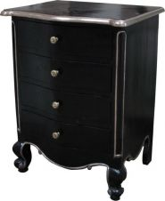 French Louis Bedside Table 4 Drawer Bs008p Lock Stock