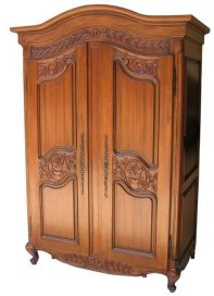 Arch Topped Armoire with carved doors (ARM011)