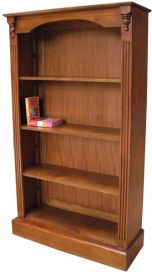 Solid Mahogany 3 Shelf Bookcase BCS012