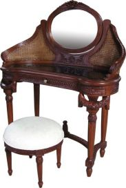 Dressing Table with Rattan DST003