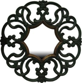 Round Carved Mirror 1 MR019