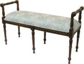 Victorian Stool with upholstered seat STL009UP