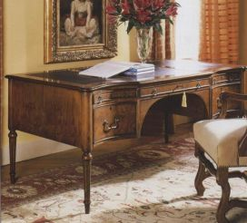 Walnut Serpentine front writing desk