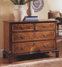 English Walnut Starburst chests of drawers