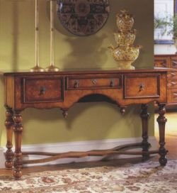 William and Mary Walnut Console Table