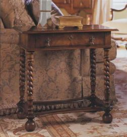 William and Mary Single drawer Walnut Lowboy