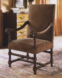 William and Mary Large Walnut Arm chair