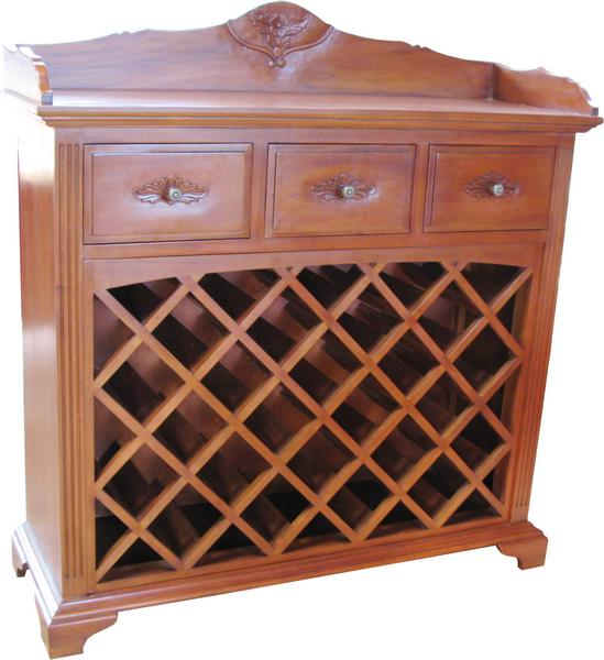 3 Drawer Wine Rack RCK015