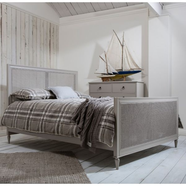 Annecy Cane Bed (Soft Grey) BF350