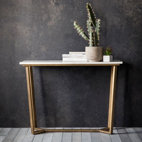 Frank Hudson Cleo Console Table with Marble Top