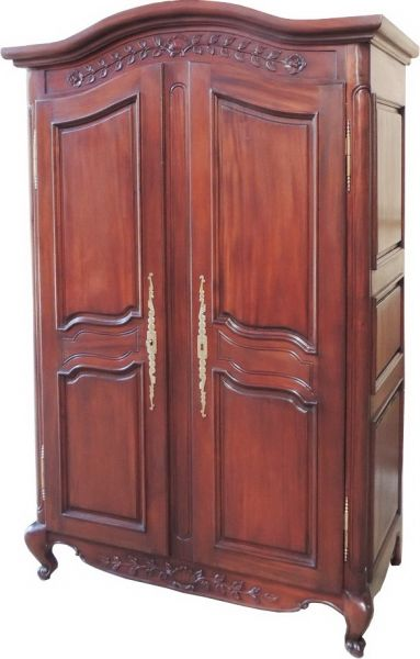 Arch Top French Armoire with plain panels ARM006
