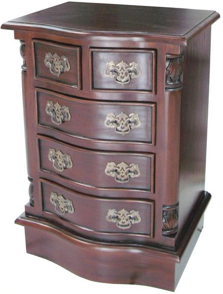 Bow Front Bedside Table 5 Drawer CHT038