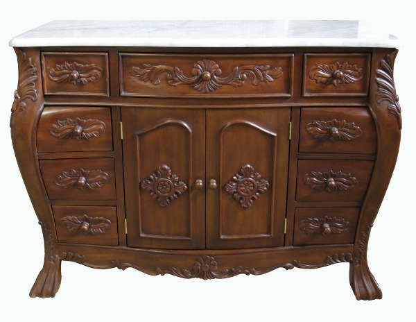Single Bathroom French Vanity Unit with Marble Top VU899(2)