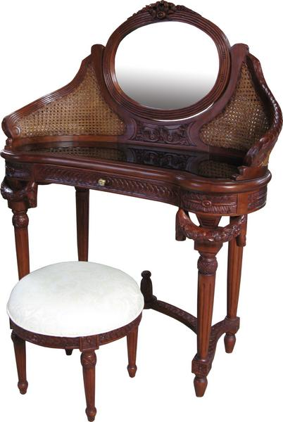 French Dressing Table with Rattan DST003