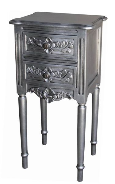 French Rococo Bedside with Flute Legs BS039S