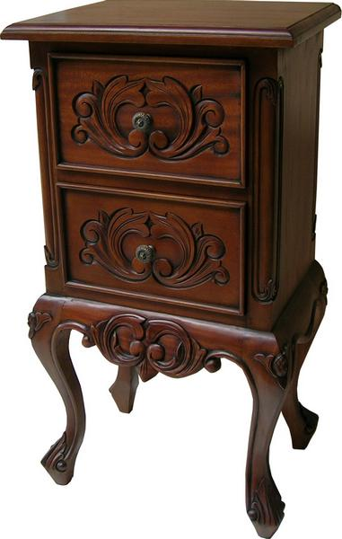 2 Drawer French Bedside  BS007