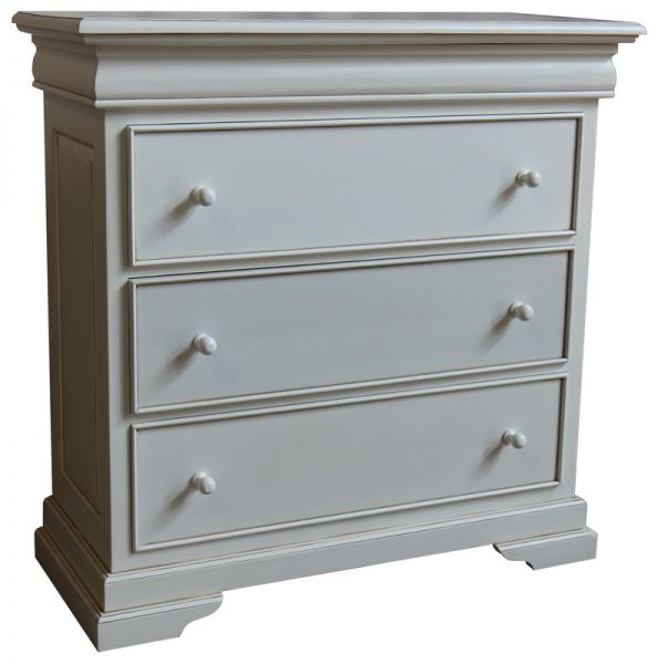 French Louis Philippe Sleigh Style 3-4 Drawer, Chest of Drawers CHT074P