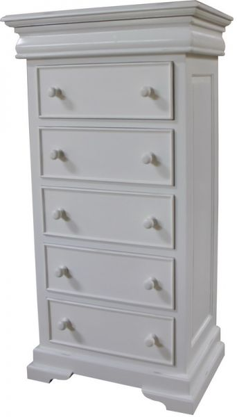 French Louis Philippe Sleigh Style Tall Narrow Chest of Drawers (5-6 drawers) CHT076P