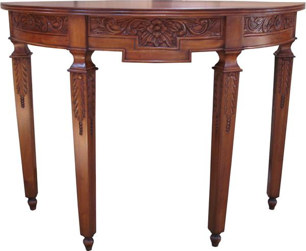 Carved Mahogany Console Table T036