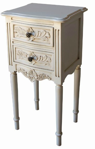 French Rococo Bedside with Flute Legs BS039P