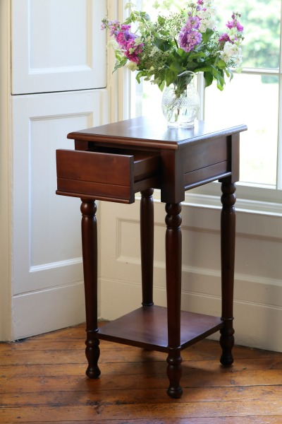 Mahogany Lamp Table with drawer T027