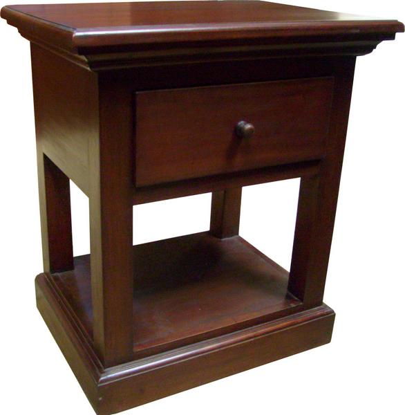 Corniche 1 Drawer Lamp Table T013