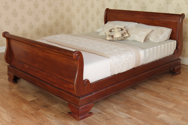 Mahogany Sleigh Bed Regular Footboard B009