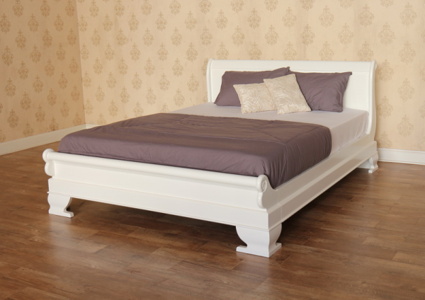 Mahogany Sleigh Bed Low Footboard B010P