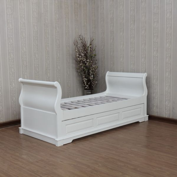 Mahogany French Sleigh Day Bed / Trundle Bed B011P