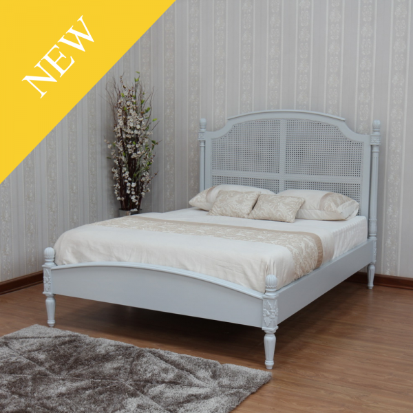 Clarissa Rattan Bed with Low Footboard