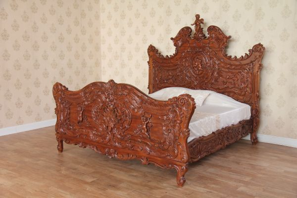 French Cherub Bed (Standard Wax) B096C