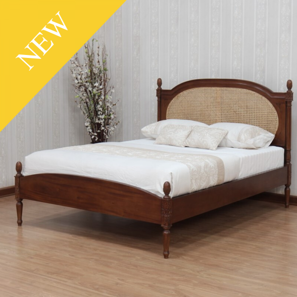 Josephine French Rattan Bed (B117)