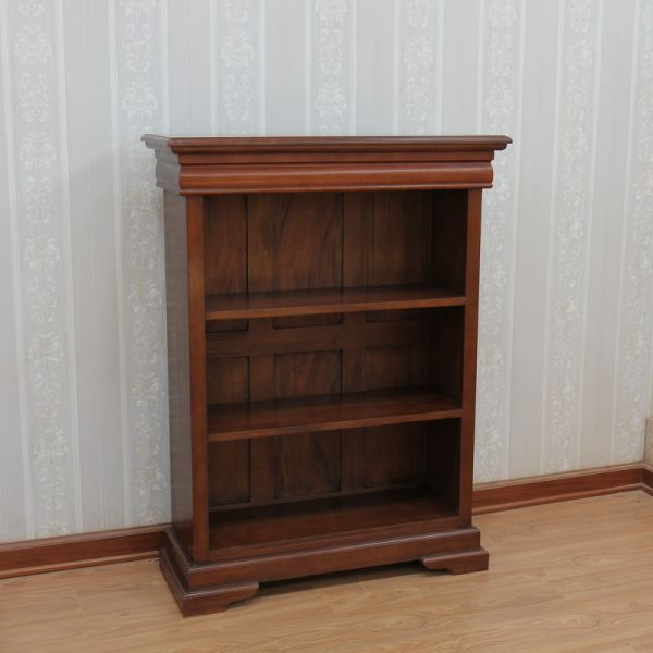 Solid Mahogany Sleigh Bookcase BCS026