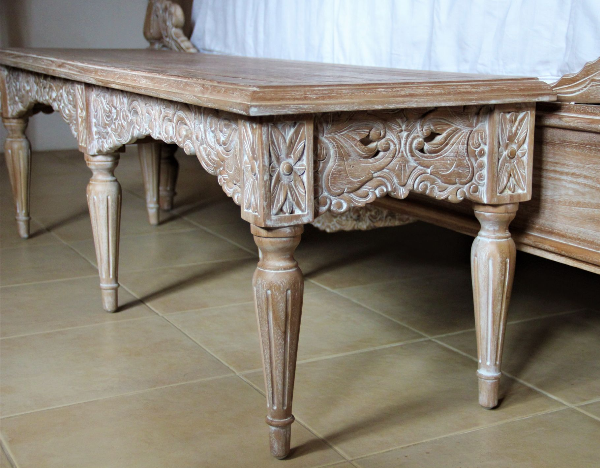 CLEARANCE- Belle French Weathered Bench