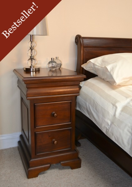 French Louis Philippe Sleigh Style 2-3 drawer Bedside BS040