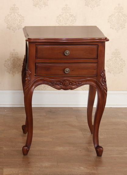Alexandria 2 Drawer Bedside Table