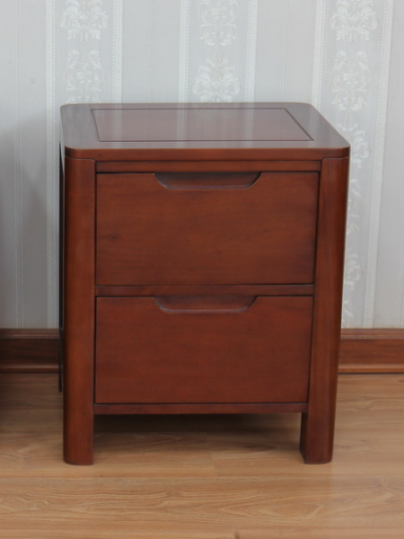 Ledbury Mahogany Bedside Cabinet with 2 Drawers BS058