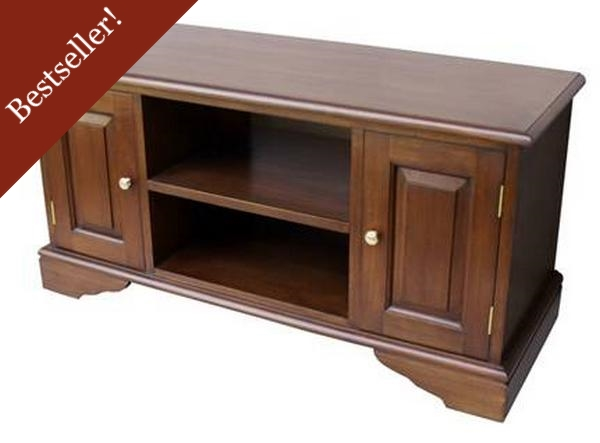 Widescreen Mahogany TV cabinet CBN055