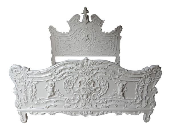 French Cherub Bed (Plain White) B096P