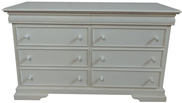 French Louis Philippe Sleigh Style Low Wide Chest of Drawers (6-8 drawers) CHT077P