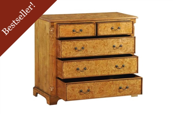 Hampton Walnut Chest of Drawers (Large)