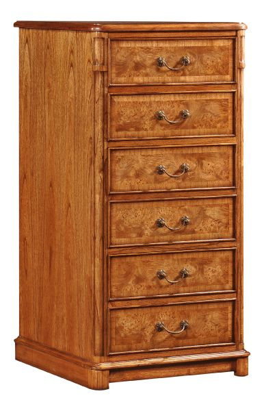 Hampton 3 Drawer Walnut Filing Cabinet FCW105-3D