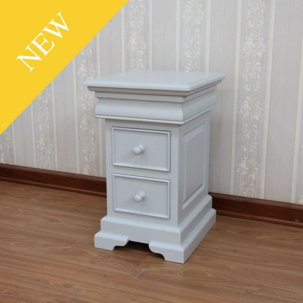 Light Grey French Louis Philippe Bedside BS040LG