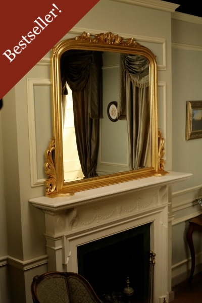 Gold Overmantle Mirror MR016