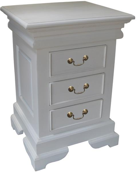 French Sleigh Bedside Table 3 drawer BS001P