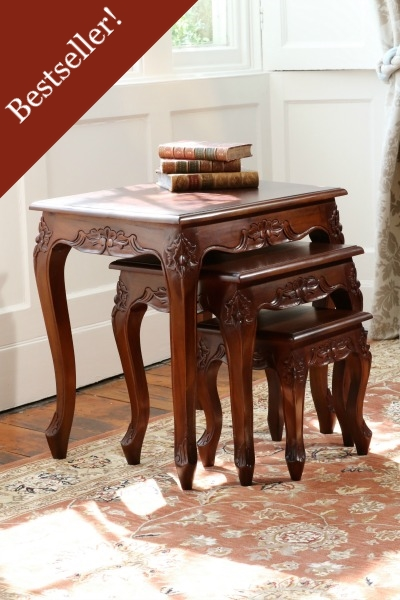 Queen Anne Mahogany Nest of Tables T038