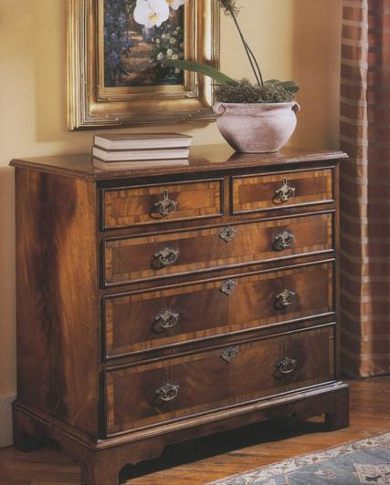Walnut Chest of Drawers made in a Traditional English Design