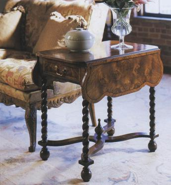 William and Mary Pembroke Walnut Drop Leaf Side Table