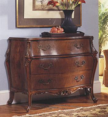 French Bombe Walnut Chest of Drawers