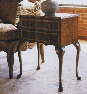 2 Drawer Lowboy Marquetry Top